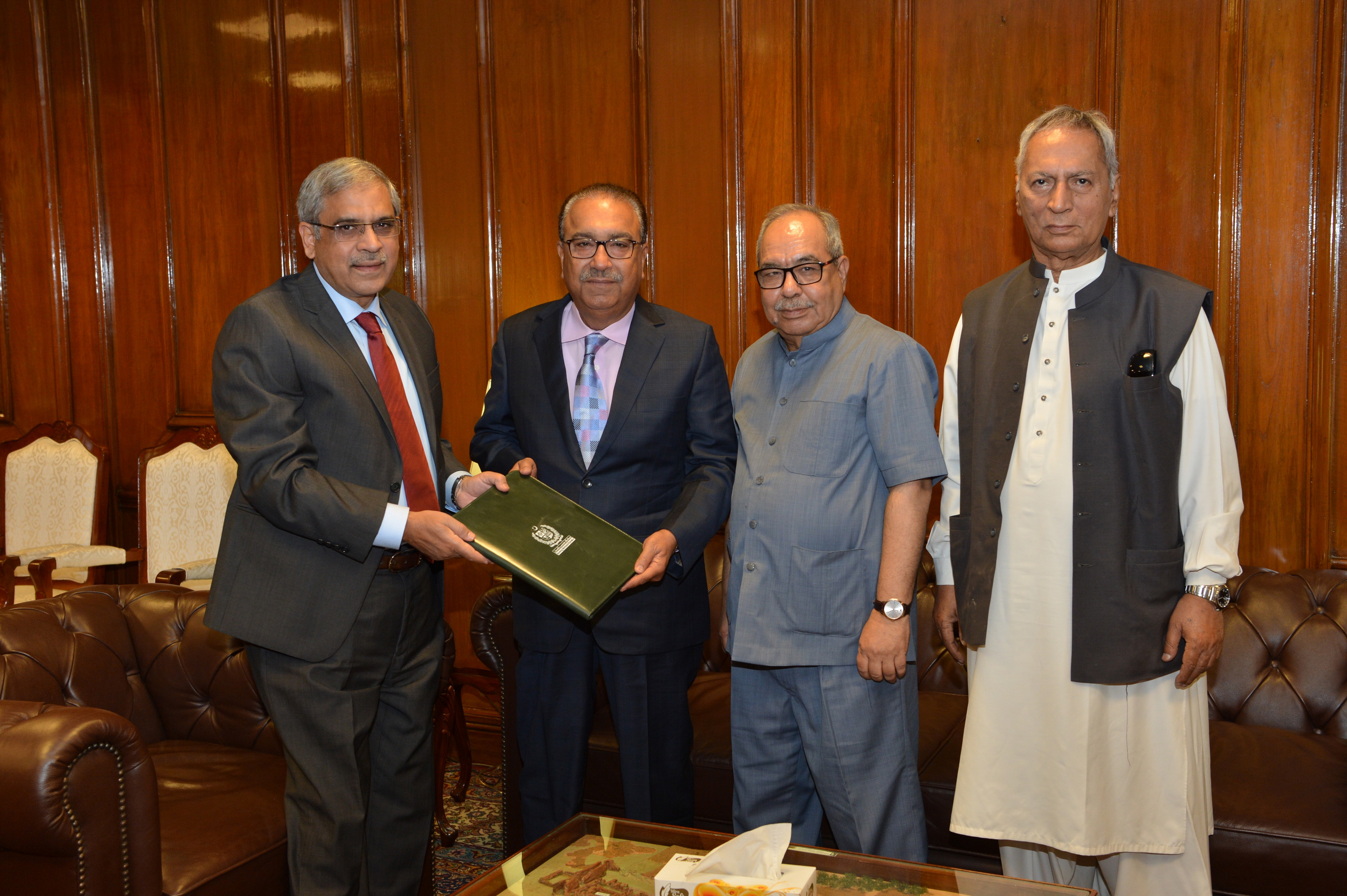 Banking Mohtasib presenting Annual Report 2018 to Governor